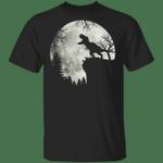 Howling T-Rex Full Moon Halloween T-Shirt Dinosaur Apparel Shirt For Men Woman