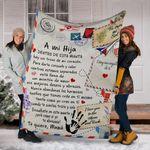 Mama A Mi Hija Blanket Good Christmas Gift For Daughter Comfortable Sofa Blanket