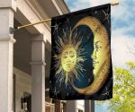Blue Flag With Crescent Moon And Star East Turkestan Flag Patriot For Wall Indoor Home Decor