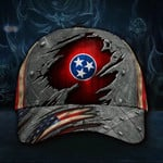 Tennessee State Flag Hat 3D Printed US Flag Old Retro Vintage Hat Proud State 2