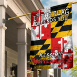 If The Flag Offends You Kiss My Marylandass Flag Vintage Funny Pride Maryland Patriotic Decor