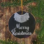 RBG Collars Merry Resistmas Ornament 2020 Funny Ruth Bader Ginsburg Tree Ornament Decorating