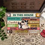 In This House We Are Bulldog Rescuers Doormat Entrance Mat For Home Doormat Outdoor