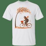 Cute Sloth Cycling Fall Tree Autumn T-Shirt Fall Shirts Fall Gift Ideas For Sloth Lovers