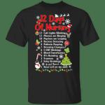 12 Days Of Nursing Shirt Nurse Christmas Funny Graphic Tee Christmas Gift For Nurse