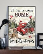 Cute Dogs All Hearts Come For Christmas Poster For Winter Home Decor Christmas Gift Family