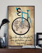 Life Is Like Riding To Keep Your Balance Poster Motivation Albert Einstein Poster Wall Decor