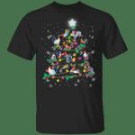 Chickens Christmas Tree T-Shirt Funny Cock And Snowflake Xmas Graphic Tee, Secret Santa Gift