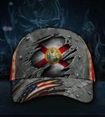 Florida State Flag Hat 3D Printed Vintage U.S Flag Cap Proud Florida Cap For Men Gift Idea 2