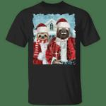 Sloth Couple Christmas T-Shirt Cute Animal Ugly Christmas Shirt Couple Gift For Grandparent