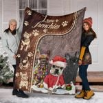 Love Frenchies Blanket Christmas Winter With French Bulldog Gift Ideas For Couples