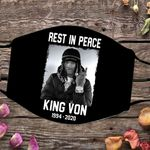 Rip King Von Face Mask Justice For King Von 1994 - 2020 Face Mask