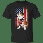 Original Vintage English Bulldog American Usa Flag Dog Shirt Patriotic Dog Lover shirt