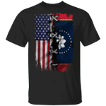 Mississippi Flag 2020 With American Flag T-Shirt New State Flag Shirt Gift