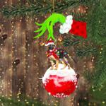 German Shepherd Green Hand Holding Ornament Feliz Naughty Dog Ornament Christmas Tree Decor