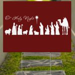 Merry Christmas Yard Sign O Holy Night Lawn Sign For Christian Front Yard Christmas Decorations