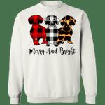 Dogs Merry And Bright Sweatshirt Christmas Essentials Sweatshirt For Men Woman Gift