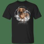 Dachshund Water Reflection T-Shirt Weiner Dog Dachshund Shirt For Adults