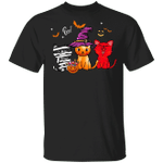 Cute Cats With Witch Hat Halloween Cosplay T-Shirt Halloween Gift Ideas For Adults Cat Lovers
