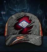 Arkansas State Flag Hat 3D Printed Vintage Old Retro USA Flag Cap Pride Arkansas Gift 2