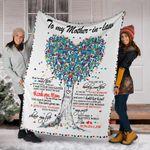 To My Mother In Law Fleece Blanket Love Heart Tree Blanket Design Gift For Mother In Law