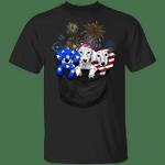 Dachshund American Flag Inside Pocket T-Shirt 4th Of July Shirts Patriotic Gifts
