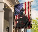 Standing American Soldier Home Of The Free U.S Flag For Decor Fourth Of July Military Honor