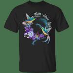 Faith Hope Love T-Shirt Birds Flowers Vintage Graphic Tee For Men Women Gift For Christian