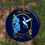 Hummingbird Ornament Happy Mother's Day Family Christmas Ornament For Mom To Be Ornament