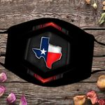 Texas State Map Flag Mask Cloth Face Mask For Men