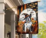 Boston Terrier Pumpkin Costume Halloween Flag For Wall Decor Boston Terrier Merchandise