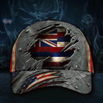 Hawaii State Flag Hat 3D Printed US Flag Old Retro Vintage Hat Men's Unique Proud Hawaii Cap