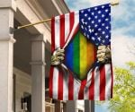 LGBT American Vintage Flag Fourth Of July Pride Colors For Indoor & Outdoor Decorative Flag
