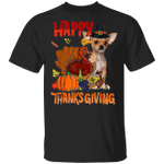 Chihuahua Happy Thanksgiving T-Shirt Cute Animal Shirt Designs Gifts For Thanksgiving Party