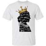 Fight For The Things You Care About Quote Classic Rbg Crown T-shirt Supreme Court Ruth Bader