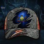 Pennsylvania State Flag Hat 3D Printed U.S Flag Vintage Hat Old Retro Pennsylvania Proud Patriotic Cap