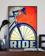 Bicycle Ride Poster For Wall Art Living Room Home Rustic Decor Gifts For Bike Riders