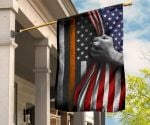 Thin Orange Line Flag And American Flag Honor Search Rescue Personnel SAR EMS Gift