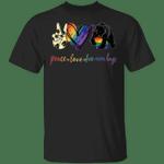 Bear Peace Love Free Mom Hugs LGBT T-Shirt Rainbow Pride Shirt