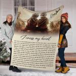 George Strait Blanket I Cross My Heart Song Lyrics Portrait Gift For Parents