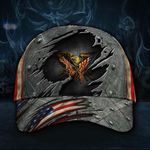 2nd Amendment Hat 3D Eagle Gun Flag 1789 U.S. Military Cap Gift For Men Father's Day Gift
