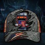 Trucker Drive Hat 3D Printed U.S Flag Vintage Hat Gift For Truck Driver Dad