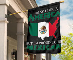 I May Live In America But I'm Proud To Be Mexican Flag Mexican Eagle Coat Of Arms For Decor