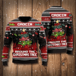 Crocin Around The Christmas Tree Sweatshirt Funny Christmas Sweatshirt Xmas Ugly Sweatshirt