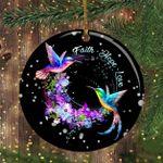 Hummingbird Christmas Ornament Faith Hope Love Most Beautiful Christmas Ornament Set Tree