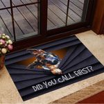 Did You Call First Doormat Adorable German Shepherd Welcome Mat Gift Ideas For Dog Owners
