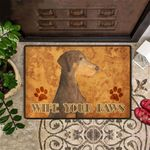 Wipe Your Paws Doormat Dirty Dog Doormat Hilarious Funny Entrance Door Mat Gift For Family