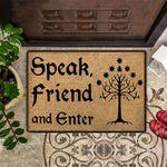 Speak Friend And Enter Doormat Funny Welcome Mat Outdoor Entrance Doormat