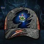 Maine Flag Hat 3D Printed USA Flag Vintage Men's Cap Proud State Maine Hat