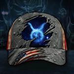 Taurus Bull Hat 3D Print Vintage American Flag Cap Birthday Gift For Taurus Man